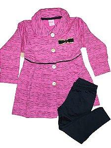 Conjunto menina com casaco em moletom e legging forrada - Dila (15001780)
