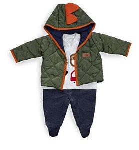 Macacão longo menino com jaqueta - Keko Baby (2374)