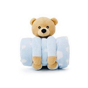 Cobertor com pelúcia Urso em microfibra Loani
