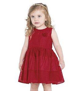 Vestido vermelho modelo evasê