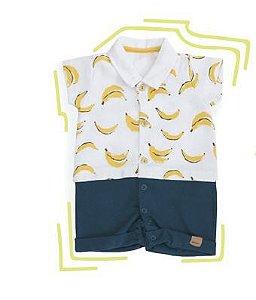 Macacão curto bebê bananinhas Keko (2291)