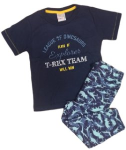 Conjunto camiseta com calça camuflada Dinossauro Kaiani (8572)