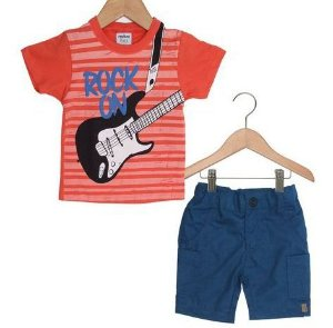Conjunto menino m/c Rock On Rovitex (308679)