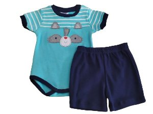 Conjunto body m/c + short Ratinho Curioso (174)