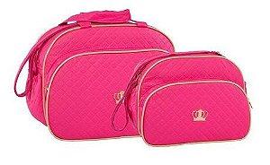 Kit de Malas Maternidade coroa pink Lilian Baby