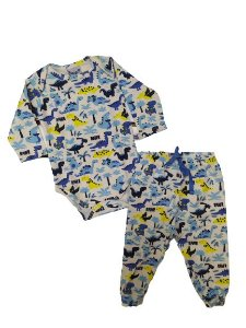 Conjunto body com calça Dinossauro