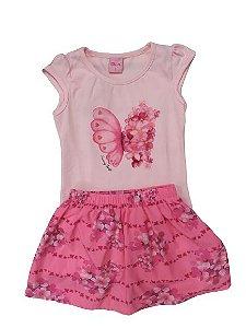 Conjunto com saia floral Dila (15002046)