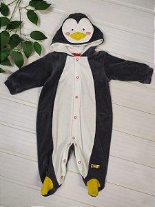 Macacão longo plush Pinguim Bicho Molhado (5844k)