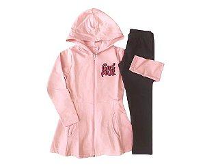 Conjunto menina com casaco em moletom e legging Dila (15102322)