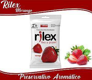 PRESERVATIVO MASCULINO MORANGO COM 3 UNID. RILEX