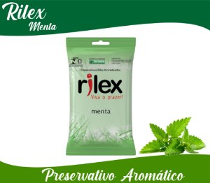 PRESERVATIVO MASCULINO  MENTA COM 3 UNID. RILEX
