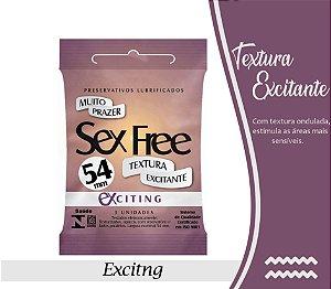 PRESERVATIVO MASCULINO TEXTURIZADO EXTING COM 3 UNID. SEX FREE