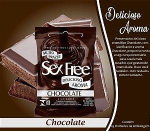 PRESERVATIVO MASCULINO CHOCOLATE 3 UNID. SEX FREE