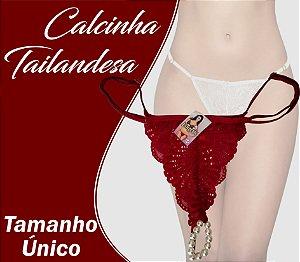 CALCINHA TAILANDESA TAMANHO ÚNICO VERMELHO ESCURO