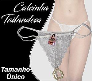 CALCINHA TAILANDESA TAMANHO ÚNICO BRANCO