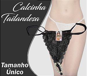 CALCINHA TAILANDESA TAMANHO ÚNICO CINZA