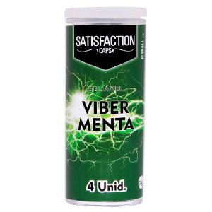 BOLINHA VIBER MENTA C/ 04 UNIDADES SATISFACTION