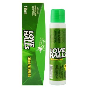 LOVE HALLS GEL BEIJÁVEL RESFRESCANTE 18ML  VERDE