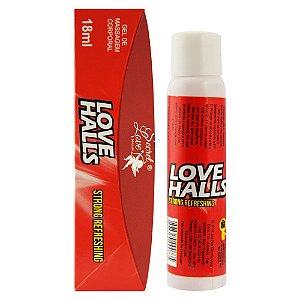 LOVE HALLS GEL BEIJÁVEL RESFRESCANTE 18ML VERMELHO