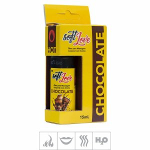 Gel Comestivel Soft Love Hot 15ml  ( ST114 ) -Chocolate