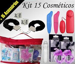 Kit 30 Itens  >15 Cosméticos +15 Acessórios
