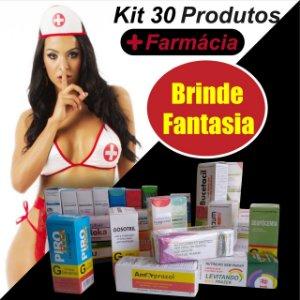 Kit 30 itens Farmacinha + BRINDE FANTASIA