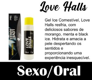 LOVE HALLS GEL BEIJÁVEL RESFRESCANTE 18ML SECRET LOVE PRETO (VEG31)
