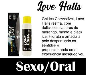 LOVE HALLS GEL BEIJÁVEL RESFRESCANTE 18ML SECRET LOVE PRETO (VEG31)