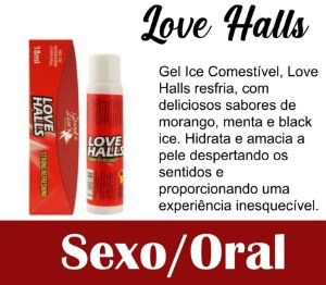 LOVE HALLS GEL BEIJÁVEL RESFRESCANTE 18ML VERMELHO (VEG30)