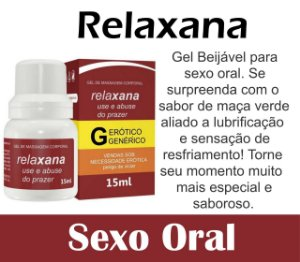 RELAXANA GEL BEIJÁVEL SEXO ORAL 15ML SECRET LOVE(VEG49)