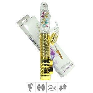 Vibrador Vai e Vem Female Com Estimulador Recarregável   (6045) Dourado