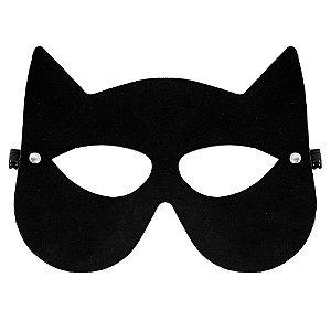 Máscara Mulher Gato Brasil Fetiche Preta