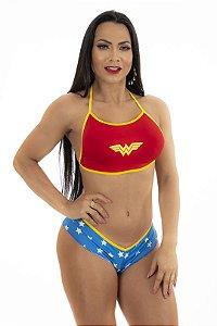 Mini Fantasia Heróis Mulher Maravilha Pimenta Sexy