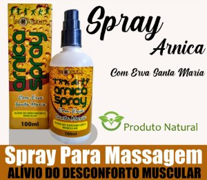 Massageador Spray Arnica com Erva Santa Maria 100ml