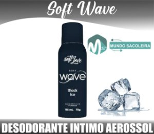 Desodorante íntimo Aerosol Soft Wave 115ml Soft Love BLACK ICE