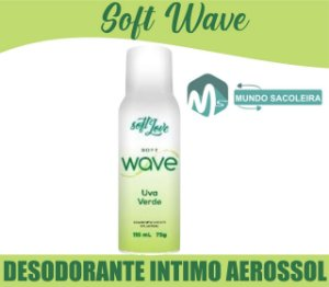 Desodorante íntimo Aerosol Soft Wave 115ml Soft Love UVA VERDE
