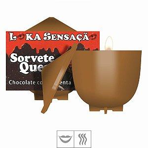 Vela Comestível Sorvete Quente 30g Loka Sensação-Chocolate c/Pimenta