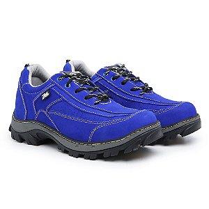 Tênis em couro legítimo Zarb - Azul