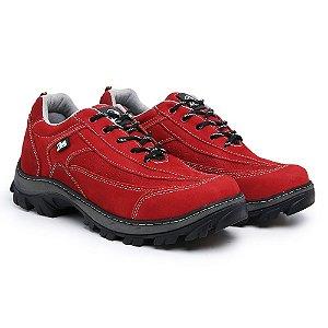 Tênis em couro legítimo Zarb - Vermelho