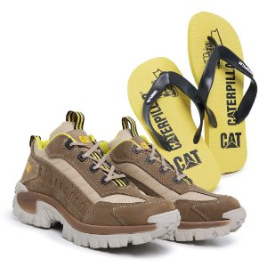 Tênis Caterpillar Intruder Marfim + chinelo