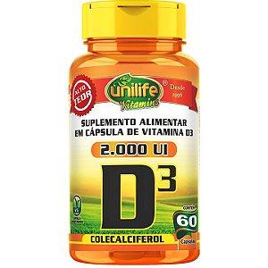 Vitamina D3 60 caps  Colecalciferol - Unilife Vitamins
