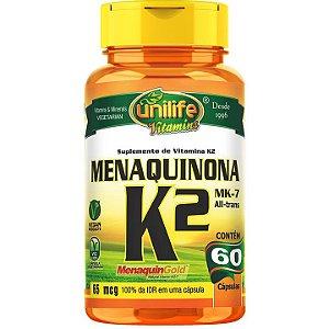 Vitamina K2 60 caps  Menaquinona - Unilife Vitamins