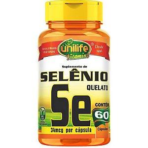 Selênio Quelato 60 caps - Unilife Vitamins