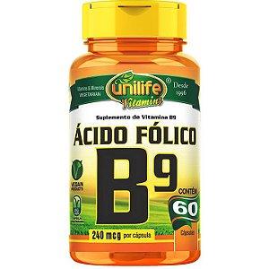Vitamina B9 60 caps - Unilife Vitamins