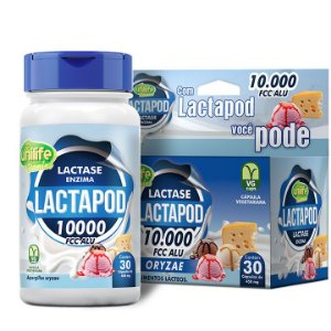 Lactapod 450mg 10.000 FCC  30 caps - Unilife Vitamins