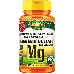 Magnésio Quelato 60 caps - Unilife Vitamins