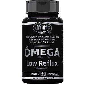 Ômega Low reflux sabor limão 60 caps - Unilife Vitamins