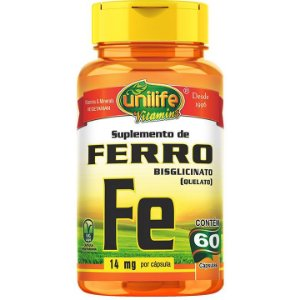 Ferro quelato 60 caps - Unilife Vitamins