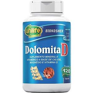 Dolomita com vitamina D 120 caps - Unilife Vitamins