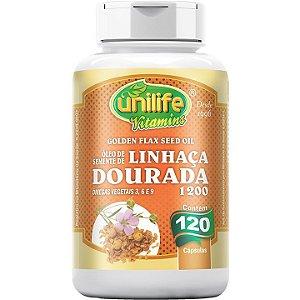 Óleo de Semente de Linhaça Dourada 1200mg 120 caps - Unilife Vitamins